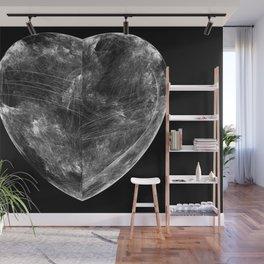 ZoooooZ Heart - shadow and silver Wall Mural