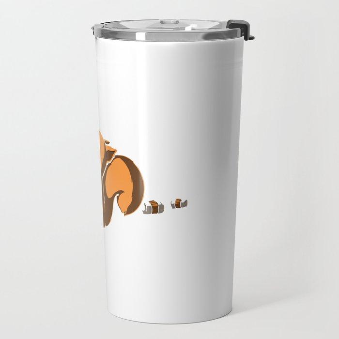 More Coffee Less Not Coffee Squirrel Travel Mug