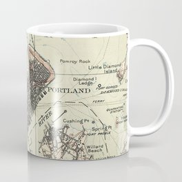 Vintage Map of Portland Maine (1914) Coffee Mug