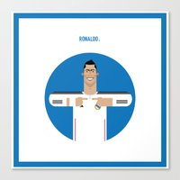 real madrid Canvas Prints featuring Cristiano Ronaldo Real Madrid Illustration by Gary  Ralphs Illustrations