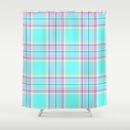 Large Royal Floridian Tartan Check Plaid Shower Curtain