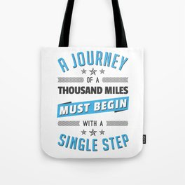 Motivational Journey Quote Tote Bag