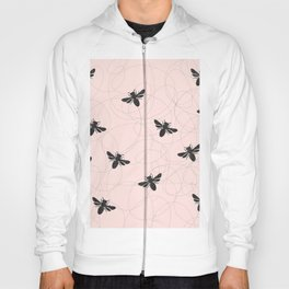 Bee Dance on Pink - Mix & Match With Simplicity of Life Hoody
