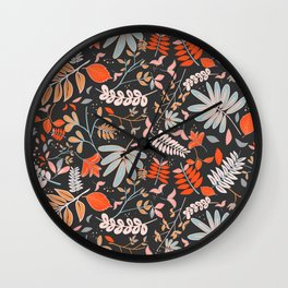 Woodland Flora Wall Clock