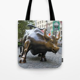 Wall Street Bull Tote Bag