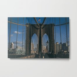 Classic Brooklyn Bridge Metal Print