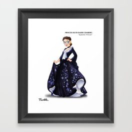 Princess Ruth Bader Ginsberg (Trumble Cartoon) Framed Art Print