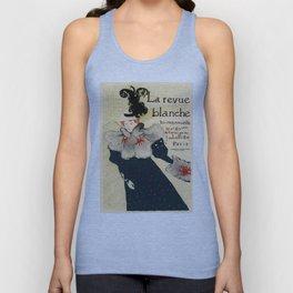 Belle Epoque vintage poster, La Revue Blanche Unisex Tank Top