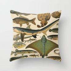 Lotsa Fish Throw Pillow