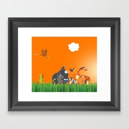 What's going on in the jungle? Kids collection Framed Art Print