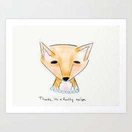 ms fox Art Print