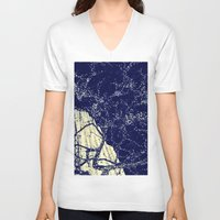 the lights V-neck T-shirts featuring Lights by Maria Giorgi