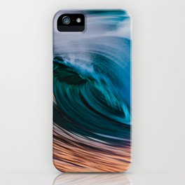 Slow Shutter Of Wave iPhone Case