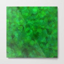 Fresh Bright Moss Green Abstract Metal Print