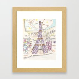Eiffel Tower of French Macarons and Sweets in Paris  Framed Art Print
