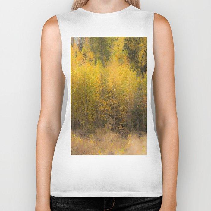 Fall color forest #decor #buyart #society6 Biker Tank