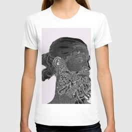 Hipster Neptune - charcoal T-shirt