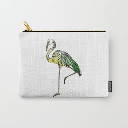 Yellow Flamingo Illustration Carry-All Pouch