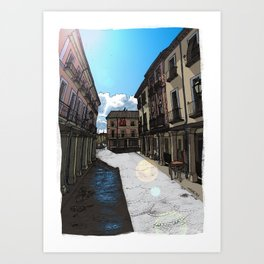 Calle Mayor (color) Art Print