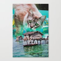 meow Canvas Prints featuring Meow by John Turck