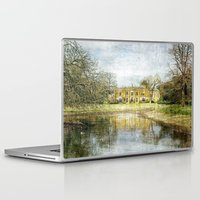 downton abbey Laptop & iPad Skins featuring Missenden Abbey by Astrid Ewing