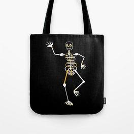 Skeleton Momo Tooth Gold Tote Bag