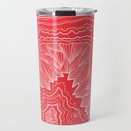 Tomato Red Geode Drawing Travel Mug