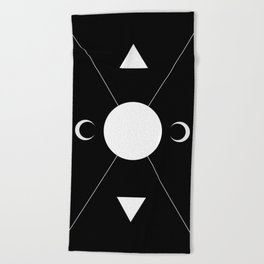 minimalist tarot deck Beach Towel