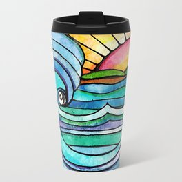 Beachy #society6 #spring #summer Metal Travel Mug