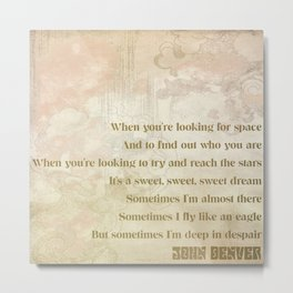 Look for Space Quote Metal Print