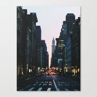 broadway Canvas Prints featuring Broadway by cascam