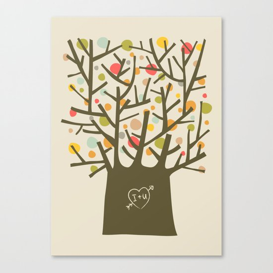 "The ""I love you"" tree Canvas Print"