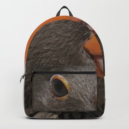 A Wise Duck Takes Care Of Its Bill Backpack