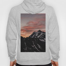 Pink Sky - Cascade Mountains - Nature Photography Hoody
