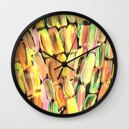 Golden Sweet Yellow Sugarcane Wall Clock