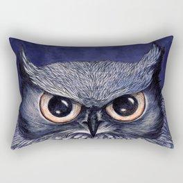 La Sagesse du Hibou (The Blue Owl) Rectangular Pillow