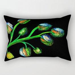 Flowers in her sleep Rectangular Pillow