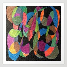 Intertwining Circles Art Print