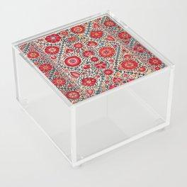 Kermina Suzani Uzbekistan Embroidery Print Acrylic Box