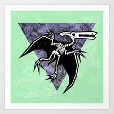 Pterodactyl Fossil Art Print