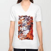 batik V-neck T-shirts featuring batik by ifcha