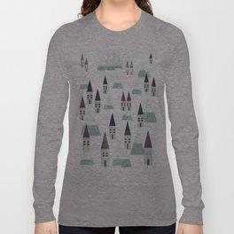 Village on winter Long Sleeve T-shirt