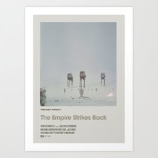 Retro Cinema Poster: Empire Strikes Back Art Print