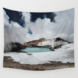 New Zealand Mount Ruapehu Volcano Wall Tapestry