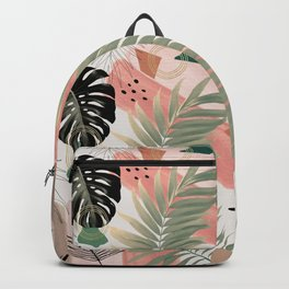 Palm Leaf Summer Glam #1 #tropical #decor #art #society6 Backpack