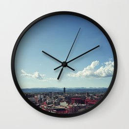 Red city Wall Clock