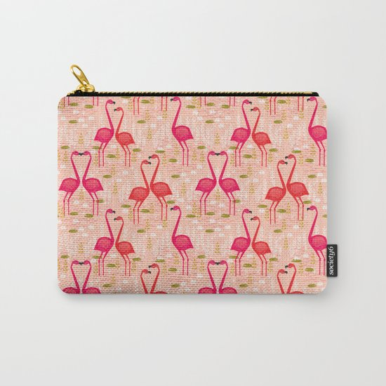 Flamingos by Andrea Lauren Carry-All Pouch