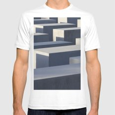 Block White MEDIUM Mens Fitted Tee