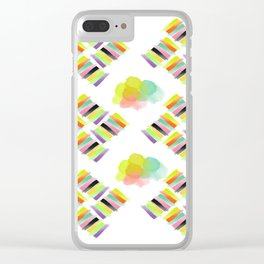 Colorful Socks Clear iPhone Case