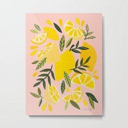 Lemon Blooms – Blush Palette Metal Print